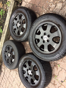Michelin summer tires 225 60 16 with alloy mags 5x114.3