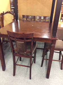 "42"" Pub Table and 4 Chairs"