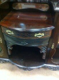 Rococo mahogany mirrored dresser