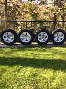 """17"""" Toyota Rims with Snow Tires"""