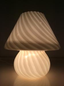 1970 Vintage Vetri Murano Lamp-Lampe Murano Retro