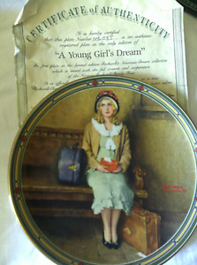"""""""Young Girls Dream"""" collector plate"""