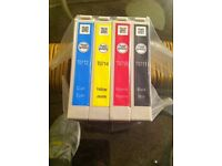 epson colour ink cartridges x 4 new unopened sealed .