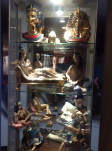 Collection 10 Figurines Nadal Pharaoh Egypte Or 24 Carats