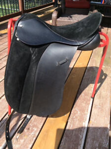 """18"""" Suede Seat Walsall Dressage Saddle, Hoop Tree, W-XW"""