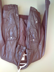 GARAGE Brown faux leather jacket