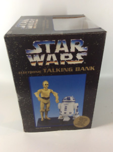 Star Wars C3P0 & R2D2  Electronic Talking Bank