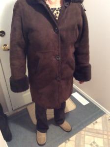 Ladies suede coat