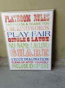 Playroom 'rules' picture