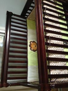 Crib, bedding, changing table