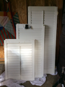 Interior shutters, excellent condition. $40 sm, 50 med, 60 lg