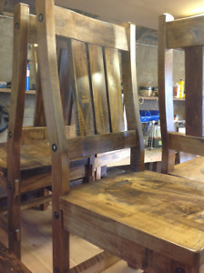 Mennonite Made Timber Slat Back Chairs