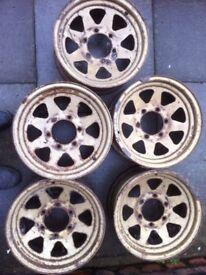Steel 4x4 wheels