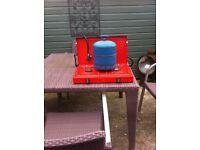 Camping cooker 2rings plus large camping gaz cylinder
