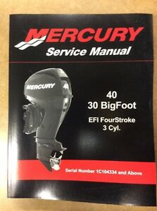 SHOP MANUAL MERCURY 30/40 BIG FOOT