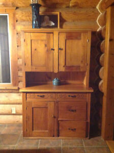 Antique pine hutch...one of a kind