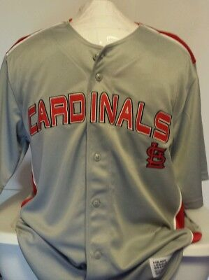 NEW Dynasty Apparel MLB St Louis Cardinals Gray Baseball Jersey Size Large