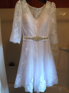 Beautiful wedding dress 2017 made in Paris with assorted veil