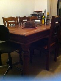 Jali dining table with chairs