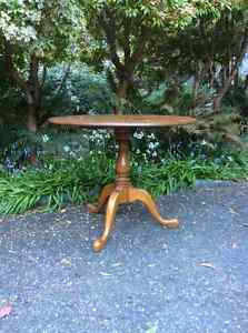 Wood round table North Shore Greater Vancouver Area image 1