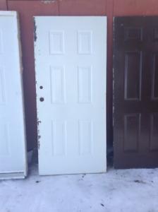 usable ext. insulated metal doors