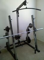 nautilus rack with weights