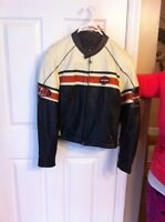 Harley women leather jacket and chapps