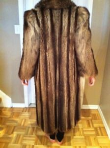 Full length racoon coat