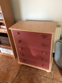 5 draw chest of drawers