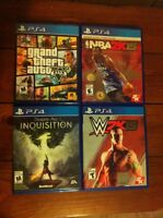 Like New PS4 500gb system, 4 newer games, 1 controller
