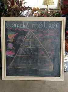 Chalk board with frame, kids will love it!