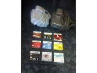 Nintendo ds dsi chargers and games