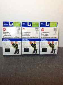 NEW IN BOX Life Brand compression socks - M - 20-25 mmHg