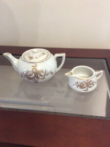 Vintage Birks tea pot and milk saucer.