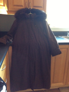 Apropos winter jacket - brown - size 3