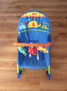 Chaise évolutive berçante et vibrante Fisher Price