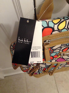 Nicole Miller New York Purse. Floral mosaic backpack.