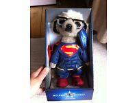 Meerkat collectible superman and batman