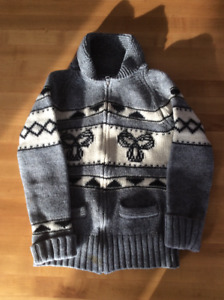 TNA Aritzia Grey & White Wool Sweater