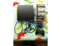 PS3 bundle 2 controllers 14 games 160gb