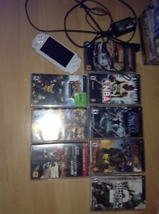 PSP Star Wars with charger and 8 games good deal