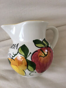 Italian Jug/Pitcher -Casarsa Wines- Hand Made Ceramic - Mint!