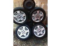 4 rover 75 alloy wheels 5stud