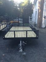 2 6x12 trailers for sale one with tailgate one without