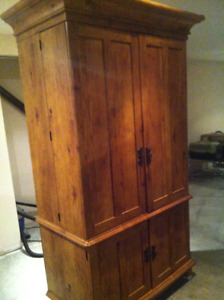 Rustic Wood TV Armoire / End table