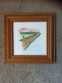 £10 no offers watercolour signed in pine frame painting