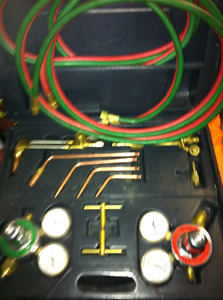 WELDING CUTTING OXY ACETL KIT WITH GAUGES HOSE ETC