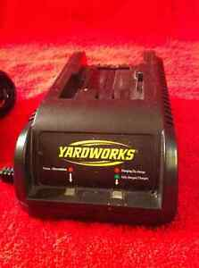 Yardworks 18 - 24 volt battery charger.