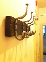 Wooden Wall-Mounted Coat Rack