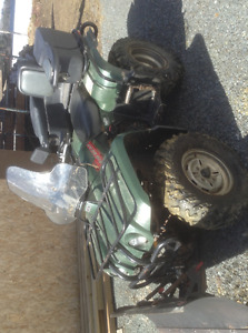 4wheeler with plow